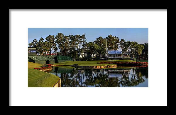 Tpc Sawgrass Golf Course Hole 17 Photo 1 Wide Framed Print by Phil Reich