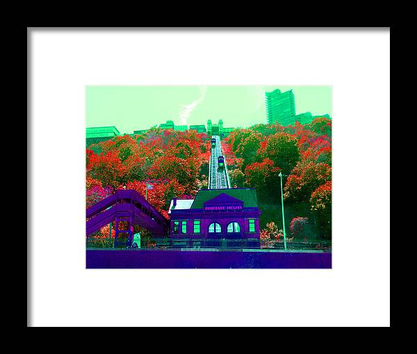Incline Framed Print featuring the digital art Track Up Red Hill by Joseph Wiegand