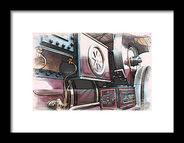 Automotive Framed Print featuring the digital art Traction Engine 1 by Paul Stevens