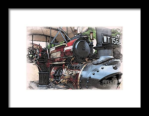 Automotive Framed Print featuring the digital art Traction Engine 2 by Paul Stevens