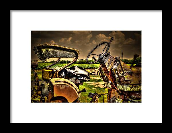 Tractor Framed Print featuring the photograph Tractor Seat by David Morefield