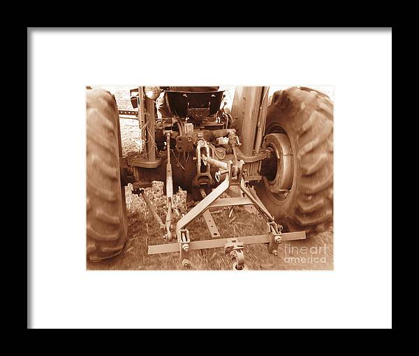 Tractor Framed Print featuring the photograph Tractor Series 002 by Serena Ballard