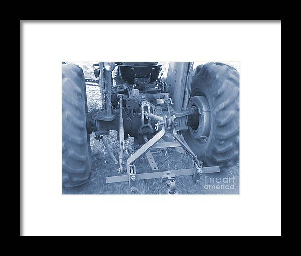 Tractor Framed Print featuring the photograph Tractor Series 003 by Serena Ballard