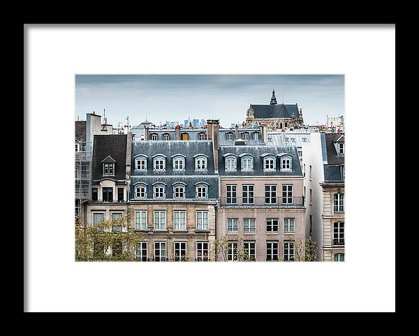 Built Structure Framed Print featuring the photograph Traditional Buildings In Paris by Mmac72