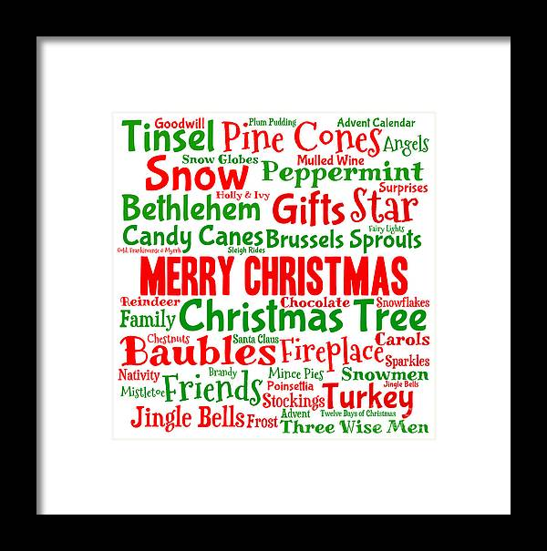 three wise men framed print featuring the digital art traditional christmas words by annalisa cromie