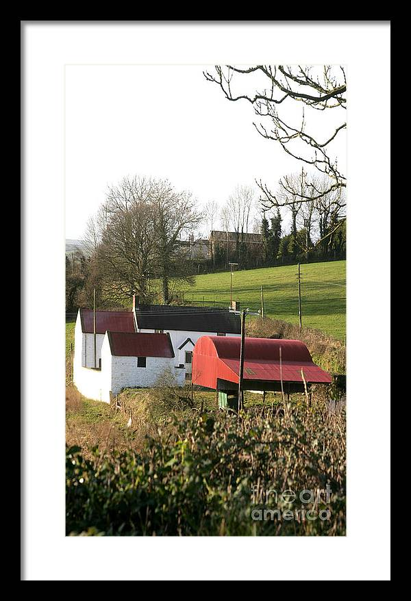 Corrugated Iron Framed Print featuring the photograph Traditional Irish Homestead by Ros Drinkwater