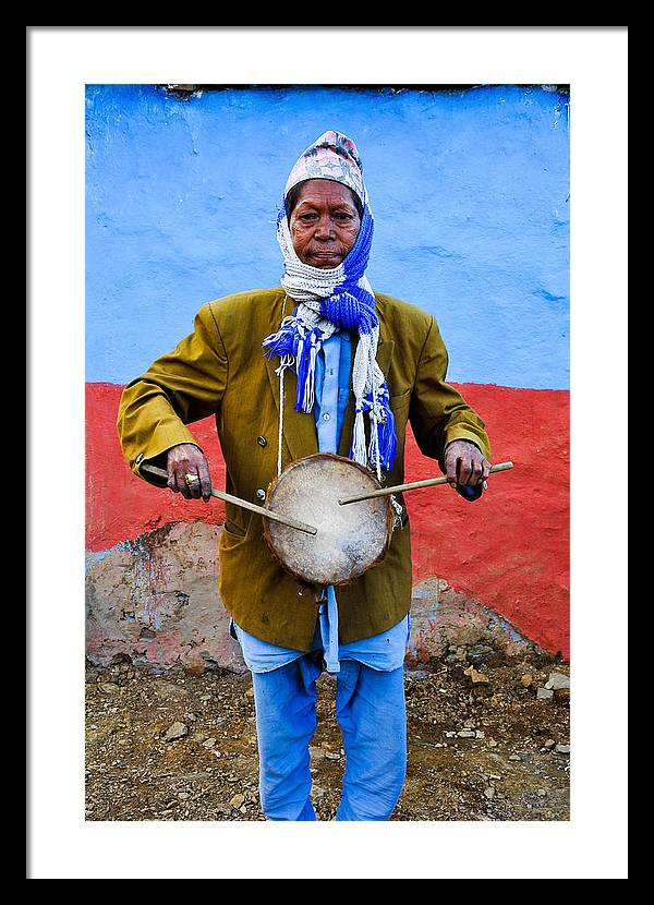 Music Framed Print featuring the photograph Traditional Musician I by Amit jung Kc