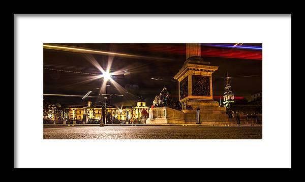 London Framed Print featuring the photograph Trafalgar Square by Dawn OConnor