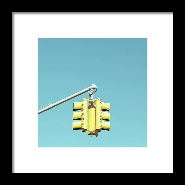 Clear Sky Framed Print featuring the photograph Traffic Light by Justinwaldingerphotography
