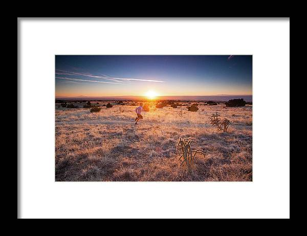 Scenics Framed Print featuring the photograph Trail Running by Amygdala imagery