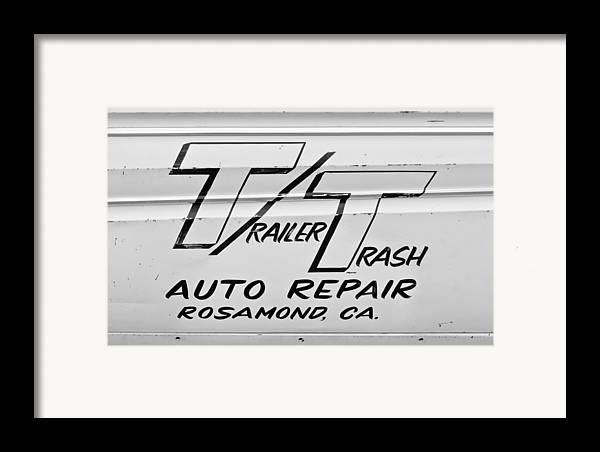 Auto Repair Framed Print featuring the photograph Trailer Trash by Phil 'motography' Clark