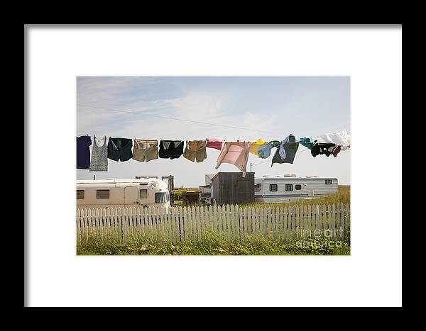 Trailers Framed Print featuring the photograph Trailers In North Rustico by Elena Elisseeva