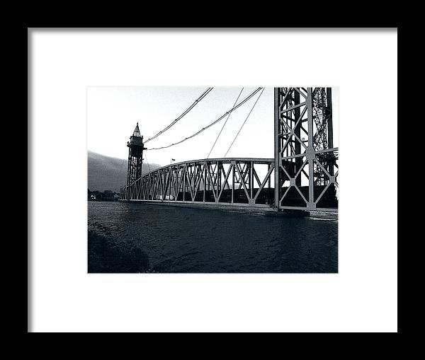 Cape Cod Framed Print featuring the photograph Train Bridge Down by David DeCenzo