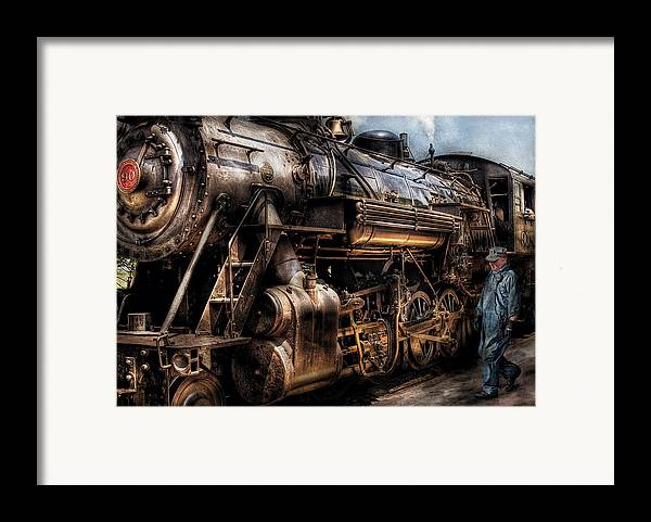 Savad Framed Print featuring the photograph Train - Engine - Now Boarding by Mike Savad