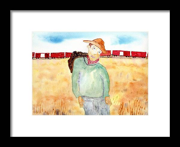 Jim Taylor Framed Print featuring the painting Train Escape by Jim Taylor