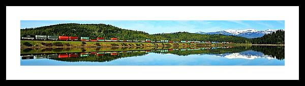 Idaho Framed Print featuring the photograph Train Reflecting by Benjamin Yeager