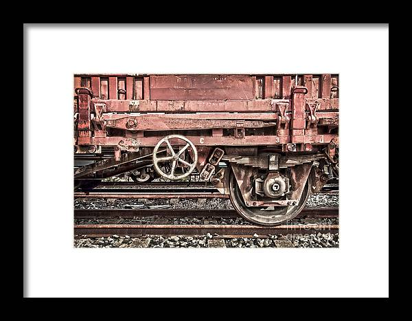 Wagon Framed Print featuring the photograph Train Wagon by Delphimages Photo Creations