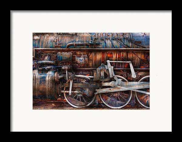 Savad Framed Print featuring the photograph Train - With Age Comes Beauty by Mike Savad