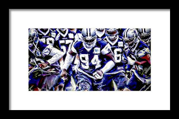 Dallas Cowboys Framed Print featuring the digital art Training Camp by Carrie OBrien Sibley