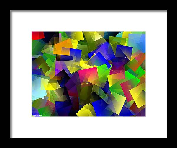 Cubista Framed Print featuring the digital art Tramonto by Giovanni Marino