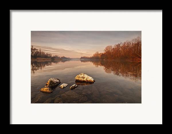 Landscape Framed Print featuring the photograph Tranquility by Davorin Mance