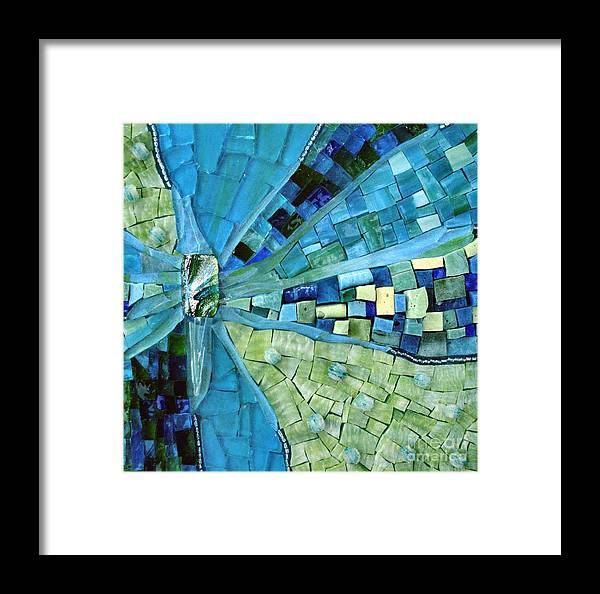 Mosaic Framed Print featuring the photograph Tranquility by Valerie Fuqua