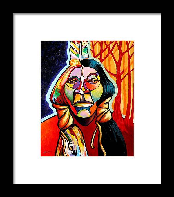Native American Framed Print featuring the painting Transformation by Joe Triano