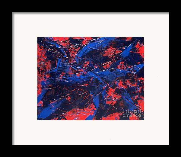 Abstract Framed Print featuring the painting Transitions Iv by Dean Triolo