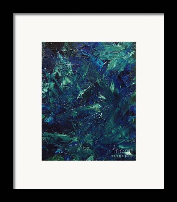 Abstract Framed Print featuring the painting Transtions Xi by Dean Triolo