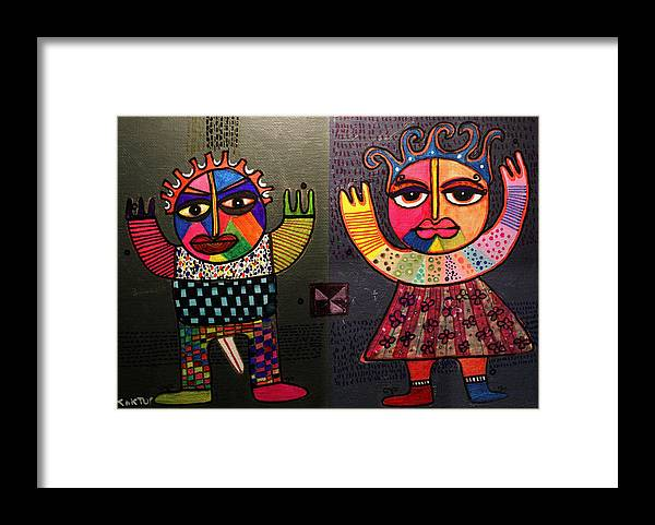 Figurative Framed Print featuring the painting Transvidual by Aramis Kaktus