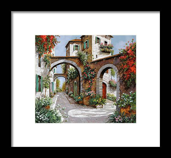 Arches Framed Print featuring the painting Tre Archi by Guido Borelli