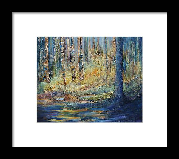 Trans Canada Trail Framed Print featuring the painting Natural Treasure by Jo Smoley