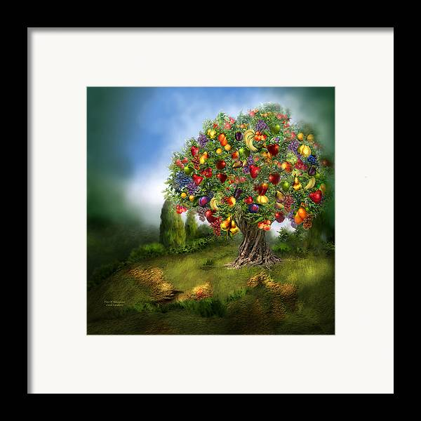 Tree Framed Print featuring the mixed media Tree Of Abundance by Carol Cavalaris
