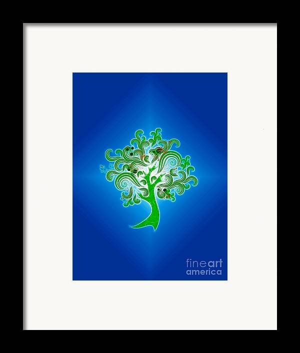 Abstract Digital Art Framed Print featuring the photograph Tree Of Life by Cheryl Young