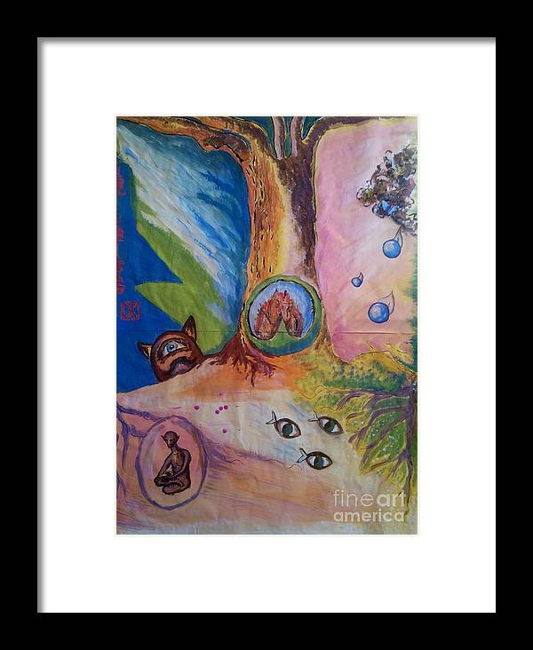 Fiction Framed Print featuring the painting Tree Of Life by Yan Michalevsky