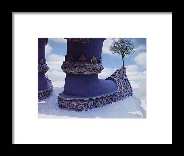 Travel Framed Print featuring the digital art Tree On Shoe by Nafets Nuarb