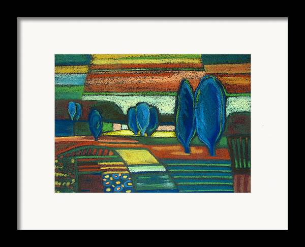 Trees Framed Print featuring the painting Trees Of Blue by Gergana Valkova