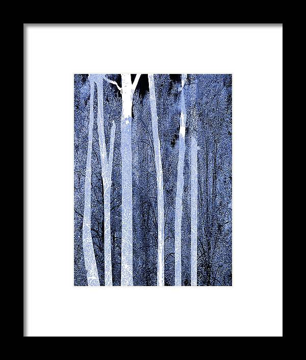 Color Framed Print featuring the painting Trees Vertical by Tony Rubino