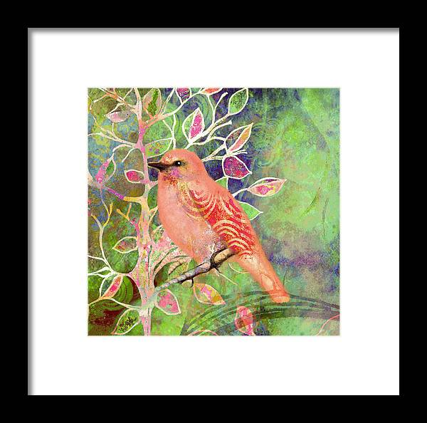 Tree Framed Print featuring the painting Treetop 1 by Robin Mead