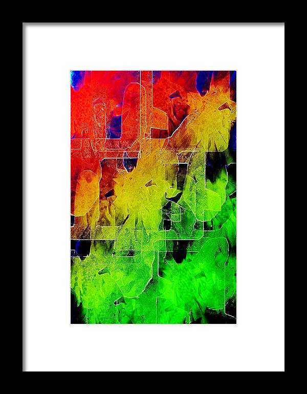 Payers Framed Print featuring the mixed media Trellis by Paula Ayers