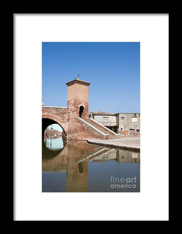 Ancient Framed Print featuring the photograph Trepponti Bridge by Gabriela Insuratelu