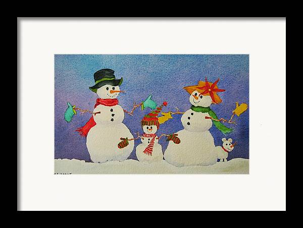 Winter Framed Print featuring the painting Tres Chic by Mary Ellen Mueller Legault