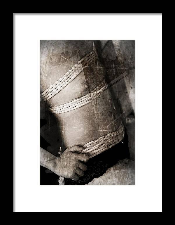 Bondage Framed Print featuring the photograph Tri-bonded by Crista Aldridge