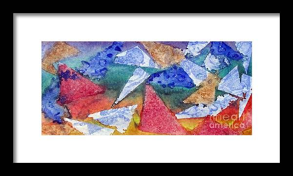 Colorful Framed Print featuring the painting Triangular Motion by Jeanne Ward