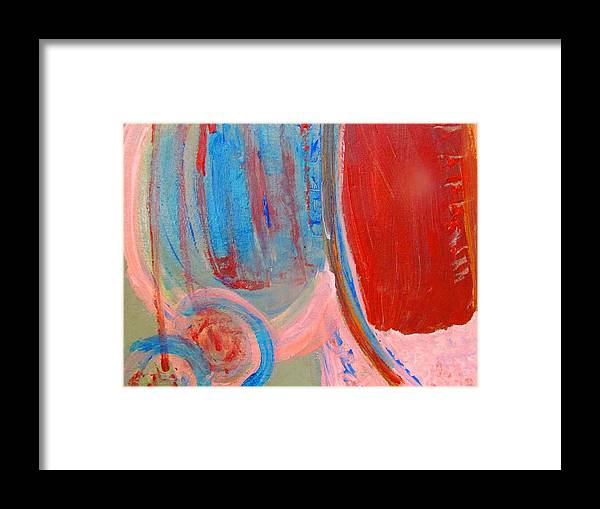Framed Print featuring the painting Tribal Earrings by Camille Glenn