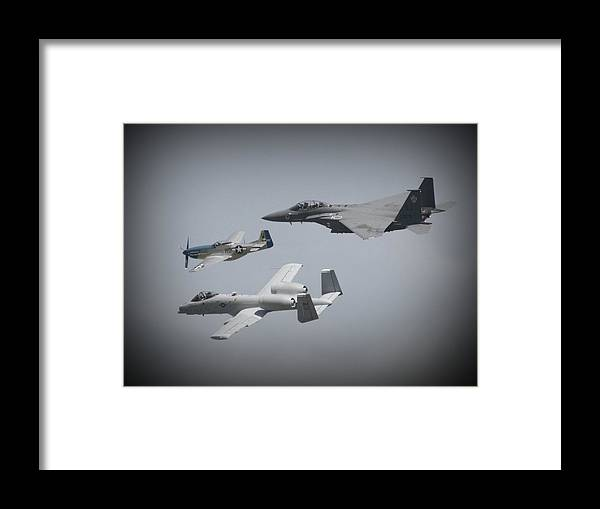 Airplane Framed Print featuring the photograph Tribute Flight Wafb 09 Tribute Flight by David Dunham