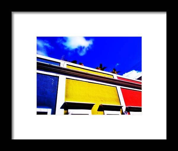 Old San Juan Framed Print featuring the digital art Tricolor by Olivier Calas