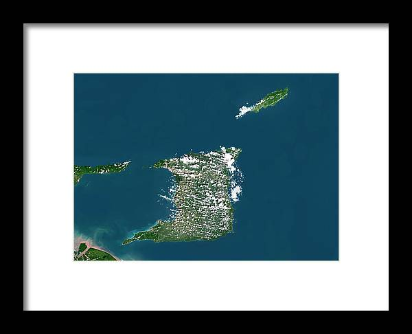 21st Century Framed Print featuring the photograph Trinidad And Tobago by Planetobserver/science Photo Library