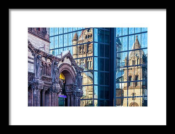 America Framed Print featuring the photograph Trinity Reflections by Susan Cole Kelly