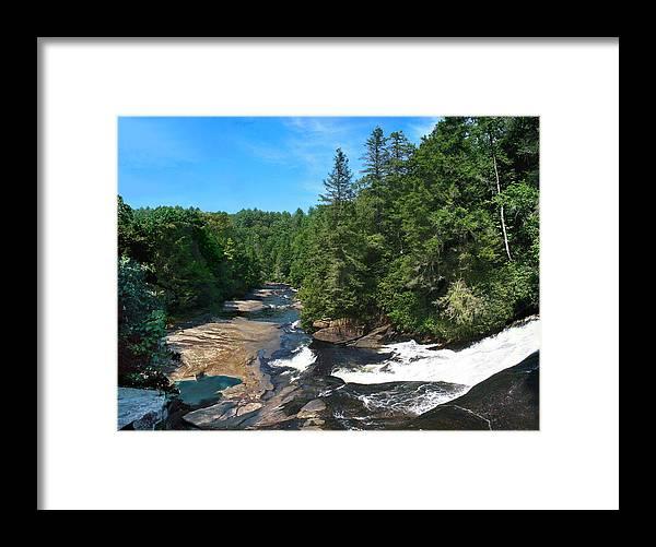 Triple Falls North Carolina Framed Print featuring the photograph Triple Falls North Carolina by Steve Karol